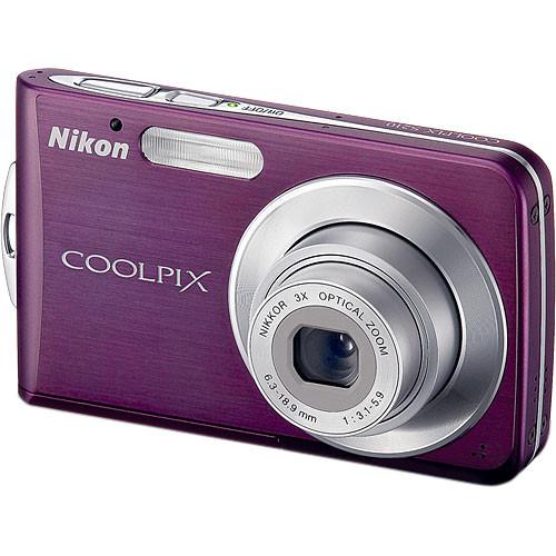 used nikon coolpix s210 digital camera plum 26103b b h photo rh bhphotovideo com Nikon Coolpix L20 Nikon Coolpix Owners Manual 2000