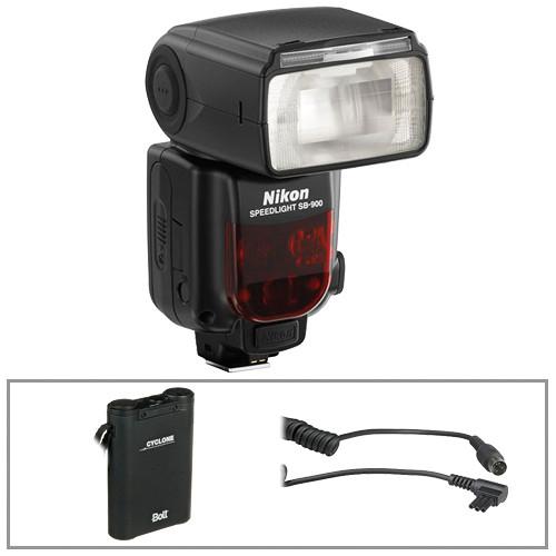 nikon sb 900 flash w bolt power pack cable kit b h photo rh bhphotovideo com
