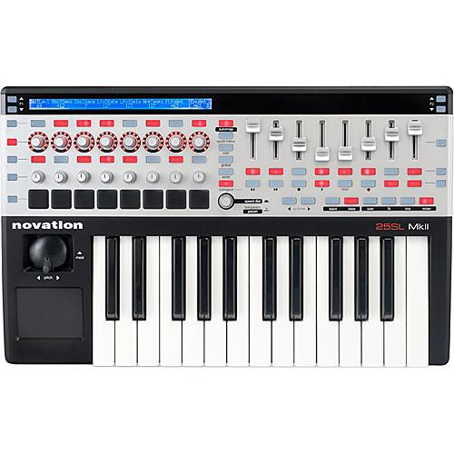 novation 25 sl mkii 25 key remote midi controller 25 slmkii b h. Black Bedroom Furniture Sets. Home Design Ideas