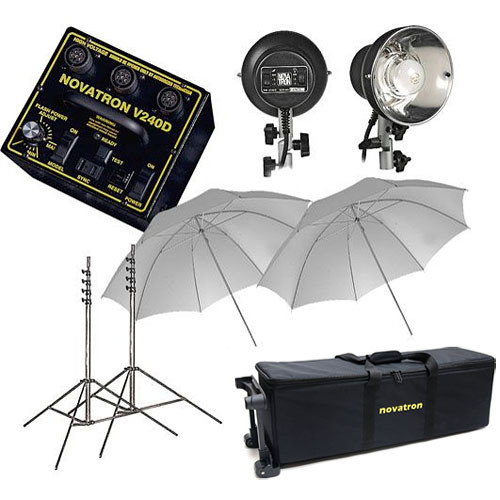 Novatron V240-D 2-Head Fun Kit W/Wheeled Case (120VAC)  sc 1 st  Bu0026H & Novatron V240-D 2-Head Fun Kit W/Wheeled Case (120VAC) NKV240D2W azcodes.com