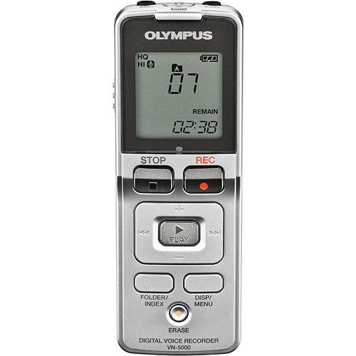 olympus vn 5000 digital voice recorder 512mb 141985 b h photo rh bhphotovideo com Olympus DS -5000 Manual Olympus DS-5000 Battery
