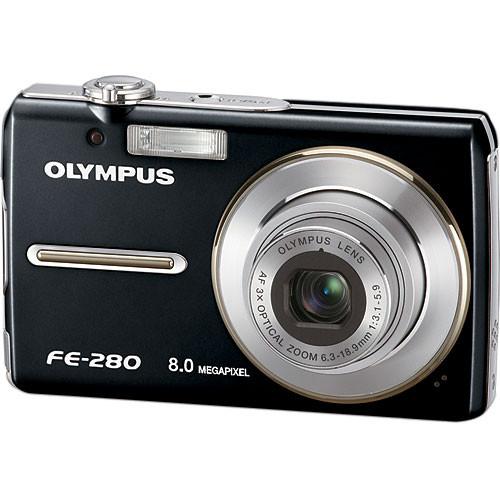 olympus fe 280 digital camera black 226020 b h photo video rh bhphotovideo com Olympus Fe 180 Olympus Fe 340