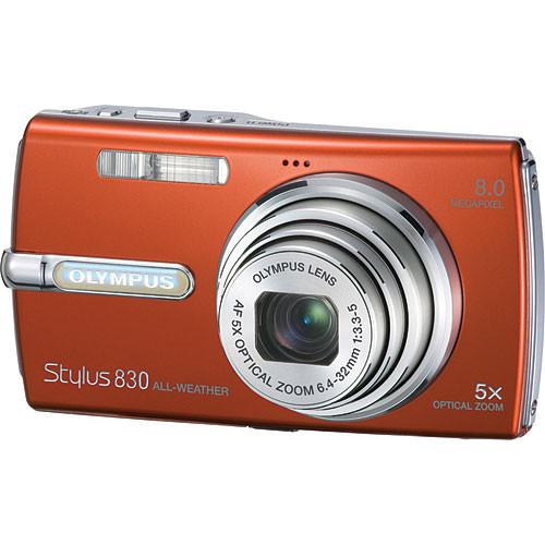 olympus stylus 830 digital camera orange 226140 b h photo rh bhphotovideo com Olympus Stylus Zoom 140 Olympus Stylus TG-630