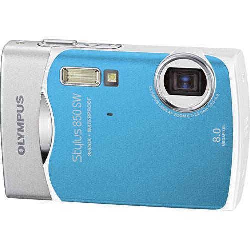 olympus stylus 850 sw digital camera blue 226330 b h photo rh bhphotovideo com Olympus Stylus Zoom 140 Olympus Stylus 35Mm