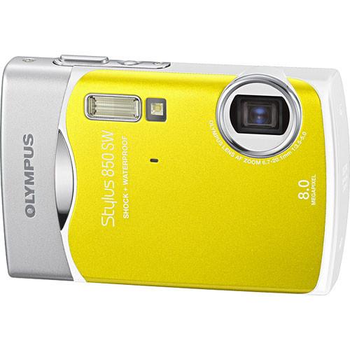 olympus stylus 850 sw digital camera yellow 226335 b h photo rh bhphotovideo com Olympus Stylus 35Mm Camera Olympus Stylus 35Mm