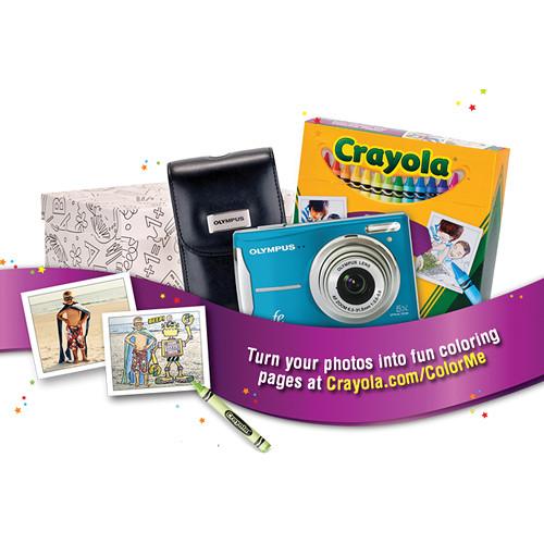 Olympus FE-46 Digital Camera (Blue) Crayola Coloring Kit 227101