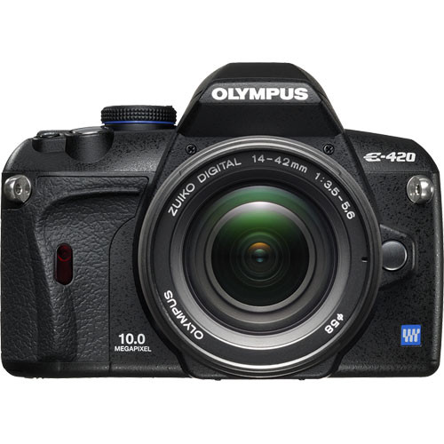 olympus e 420 slr digital camera kit with 14 42mm lens 262081 rh bhphotovideo com Olympus E-300 Olympus E-410