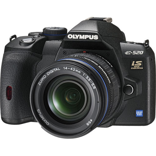 Olympus Digital Camera: Olympus E-520 SLR Digital Camera Kit With 14-42mm Lens 262086