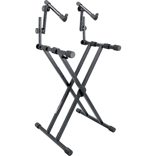 on stage ks7491 two tier double x style keyboard stand ks7491. Black Bedroom Furniture Sets. Home Design Ideas