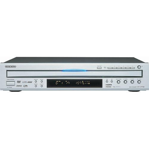 onkyo dv cp706s 6 disc carousel dvd player silver dv cp706s. Black Bedroom Furniture Sets. Home Design Ideas