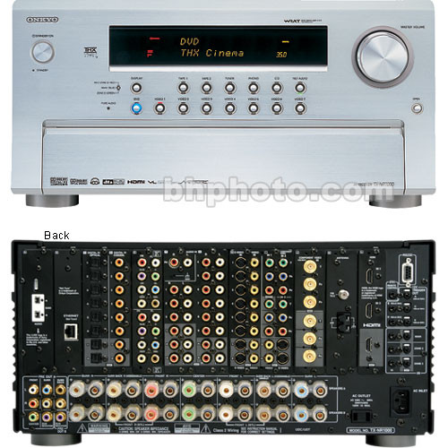 Onkyo TX-NR1000S Home Theater Receiver - Silver TXNR1000S B&H