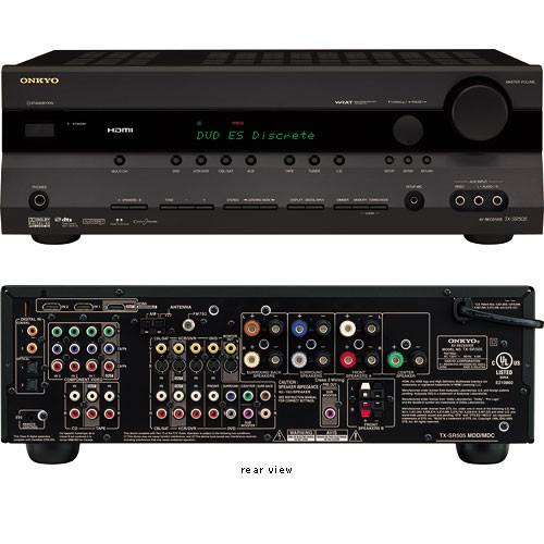 Onkyo TX-SR505 Home Theater Receiver (Black) TX-SR505B B&H ...