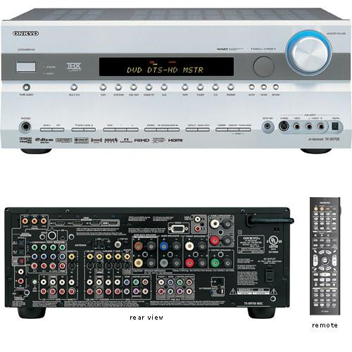 onkyo tx sr705s thx select2 home theater receiver tx sr705s b h rh bhphotovideo com  onkyo sr705 review