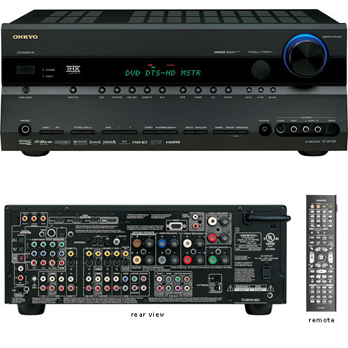 Onkyo tx sr705b thx select2 home theater receiver tx sr705 b h - Thx home cinema ...