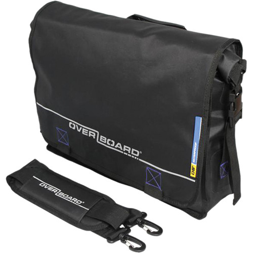 OverBoard Roll-Top Waterproof Messenger Bag OB1092-BLK B&H Photo