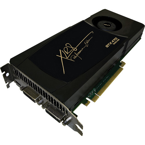 PNY Technologies GTX 470 1280MB GDDR5 PCIe Graphics ...