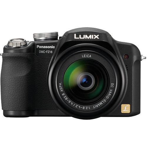 panasonic lumix dmc fz18 digital camera black dmcfz18k b h rh bhphotovideo com