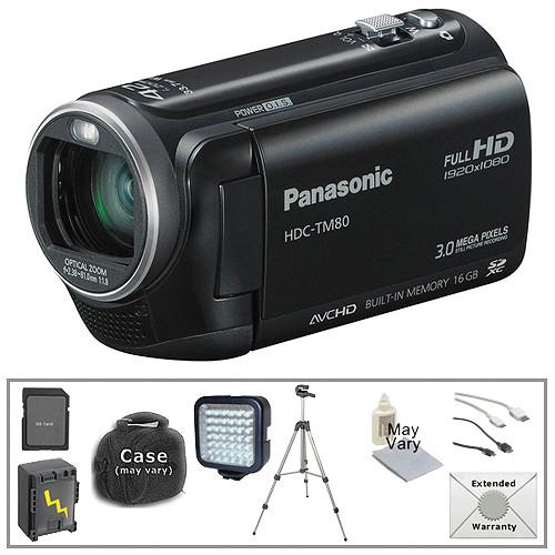 panasonic hdc tm80 hd camcorder with deluxe accessory kit b h rh bhphotovideo com Panasonic Cordless Phones Manual Panasonic Radio