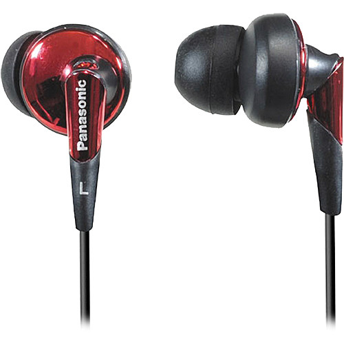Panasonic RP-HJE450 In-Ear Stereo Headphones (Red) RP-HJE450-R