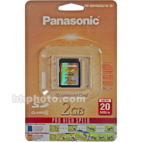 Panasonic 2GB Secure Digital SD Memory Card