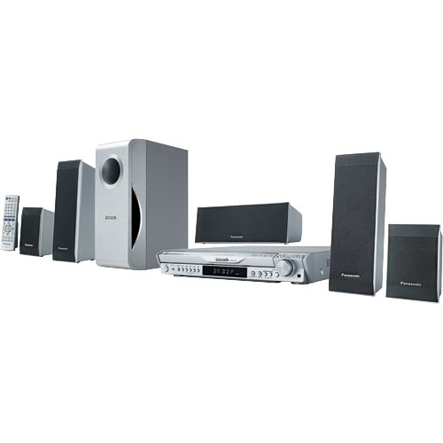 panasonic sc ht440 5 dvd changer wireless home theater scht440. Black Bedroom Furniture Sets. Home Design Ideas