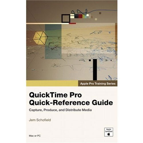 pearson education quicktime pro quick reference guide 0321442482 rh bhphotovideo com apple quicktime video format Apple Application Support QuickTime