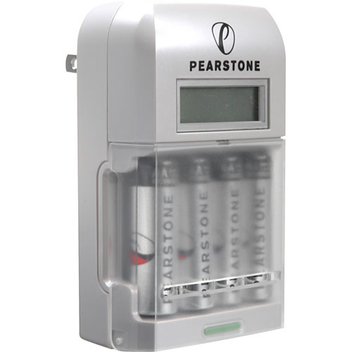 Pearstone 4 Hour Charger With LCD Display And AA 2900mA Batteries