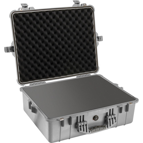 pelican 1600 case with foam set silver 1600 000 180 b h photo
