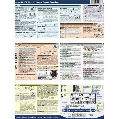 photobert cheatsheet for canon eos 5d mark ii digital tc97 08 rh bhphotovideo com canon 5d mark 2 instruction manual canon 5d mark ii user manual pdf