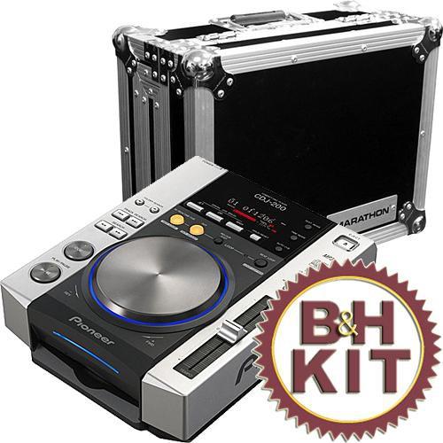 pioneer cdj 200 professional dj cd player with marathon dj case. Black Bedroom Furniture Sets. Home Design Ideas