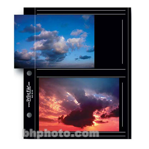 Premium Series C Archival Album Page With Black Background Holds Four 35 X 5 Prints 12 Pages
