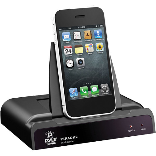 pyle home universal ipod ipad iphone docking station pipadk2 b h. Black Bedroom Furniture Sets. Home Design Ideas