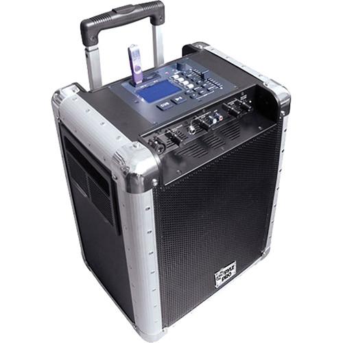 pyle pro pcmx265b battery powered portable pa system pcmx265b. Black Bedroom Furniture Sets. Home Design Ideas