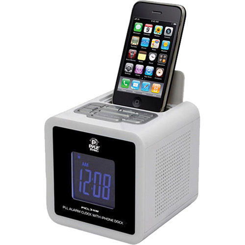 fm radio iphone pyle pro ipod iphone clock radio with fm receiver amp picl34w 10629