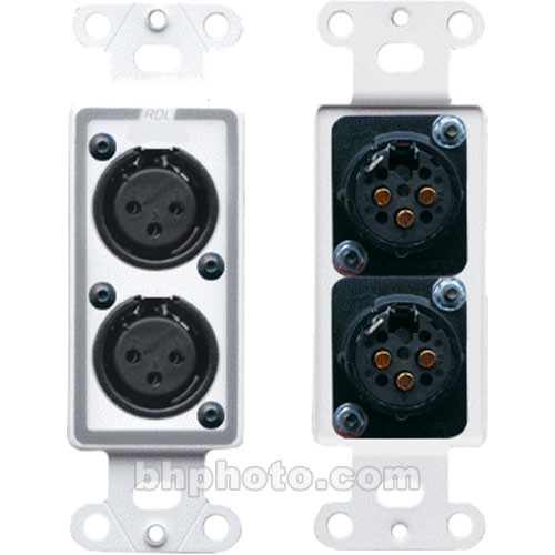 decora wall plates stainless steel rdl dxlr2f decora wall plate with dual xlr 3pin female connectors