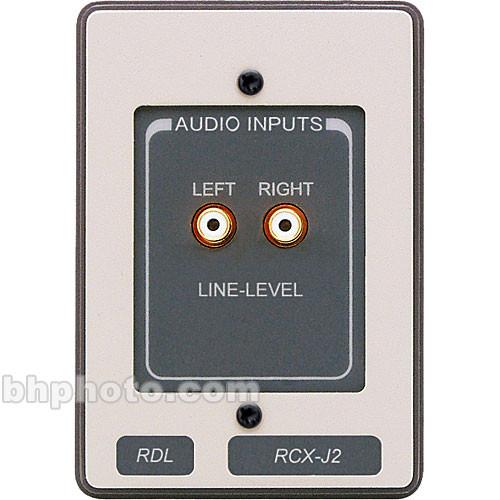 rdl rcx j2 unbalanced line level audio input panel rcx j2 b h. Black Bedroom Furniture Sets. Home Design Ideas