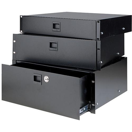 raxxess sliding rack drawer 2 space sdr 2 b h photo video. Black Bedroom Furniture Sets. Home Design Ideas