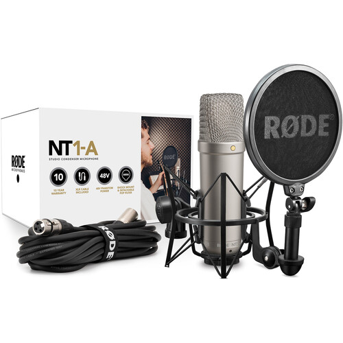 rode nt1 a large diaphragm condenser microphone single nt1 a. Black Bedroom Furniture Sets. Home Design Ideas