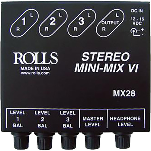 2 channel stereo line mixer