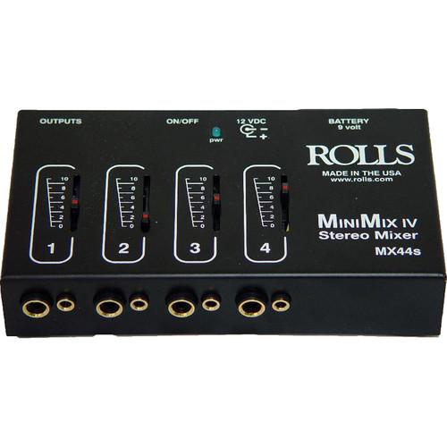rolls mx44s mini mix iv mini 4 channel audio mixer mx44s b h. Black Bedroom Furniture Sets. Home Design Ideas