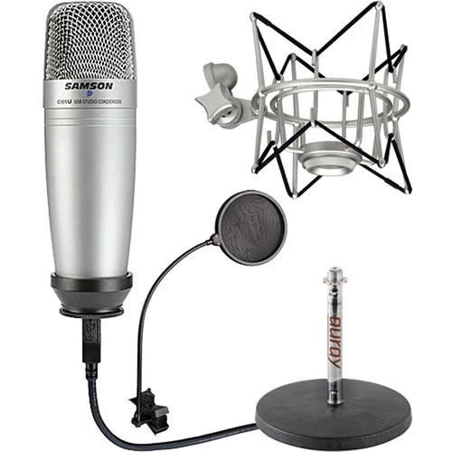 samson c01u usb microphone starter kit b h photo video. Black Bedroom Furniture Sets. Home Design Ideas