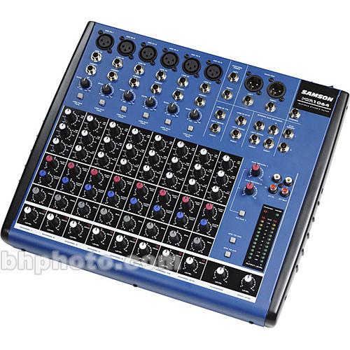 samson mdr1064 10 channel audio mixer samdr1064 b h photo. Black Bedroom Furniture Sets. Home Design Ideas