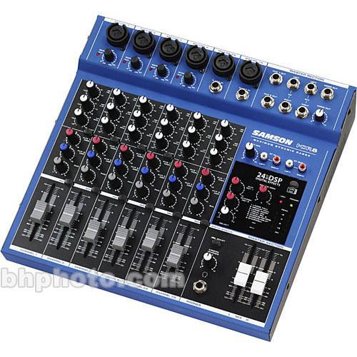 samson mdr8 8 input stereo desktop mixer samdr8 b h photo video. Black Bedroom Furniture Sets. Home Design Ideas