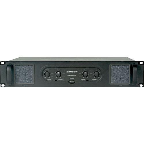 samson sz480 4 channel 120w power amplifier sasz480 b h photo. Black Bedroom Furniture Sets. Home Design Ideas