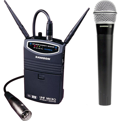Wireless Microphone System Portable : samson um1 portable handheld wireless microphone sw87shq7 n4 b h ~ Russianpoet.info Haus und Dekorationen