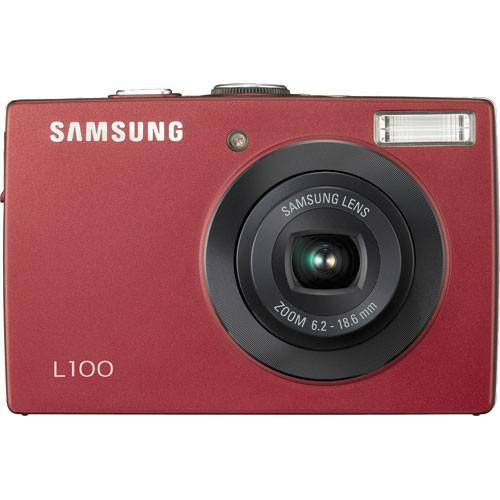 samsung l100 digital camera red ec l100zrba us b h photo video rh bhphotovideo com Samsung Camera L100 Samsung L100 Digital Camera