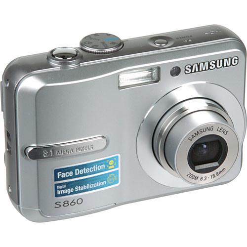 samsung s860 digital camera silver ec s860zsba us b h photo rh bhphotovideo com Samsung S860 Camera Samsung Camera S860 Manual