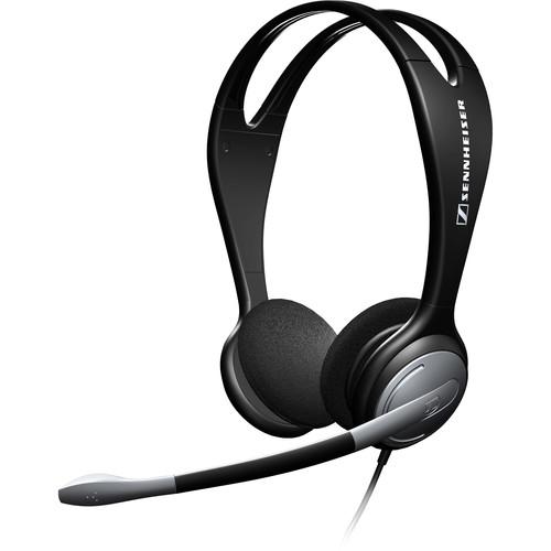 sennheiser pc 131 over the head binaural headset pc131 b h. Black Bedroom Furniture Sets. Home Design Ideas