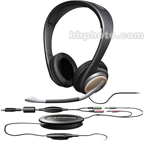 sennheiser pc 166 pro gaming headsets with microphone pc166 b h. Black Bedroom Furniture Sets. Home Design Ideas