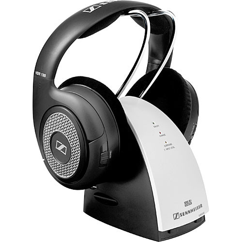 sennheiser rs 130 rf wireless headphone system rs 130 b h. Black Bedroom Furniture Sets. Home Design Ideas